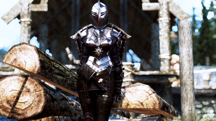 New The Elder Scrolls V Skyrim Dark Knight Mod Introduces Impressive Looking Ebony Armor And Shield Данный мод immersive armors v 8. new the elder scrolls v skyrim dark
