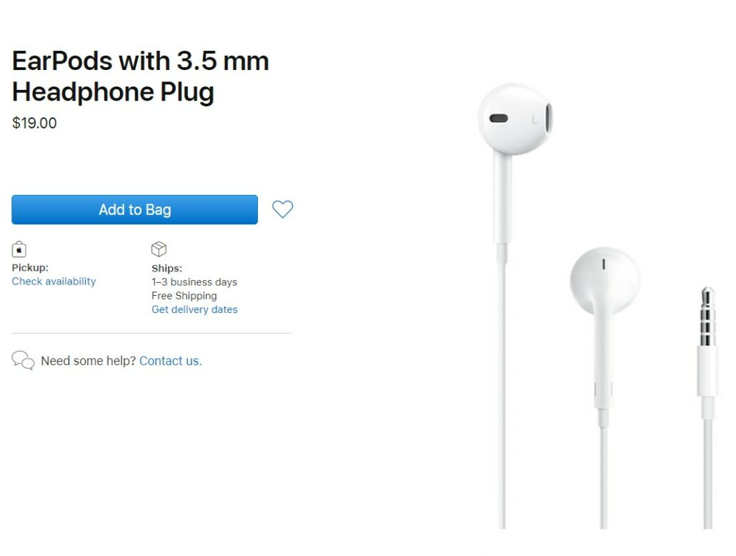 Apple Now Charging $19 Instead of $29 for Its Wired EarPods