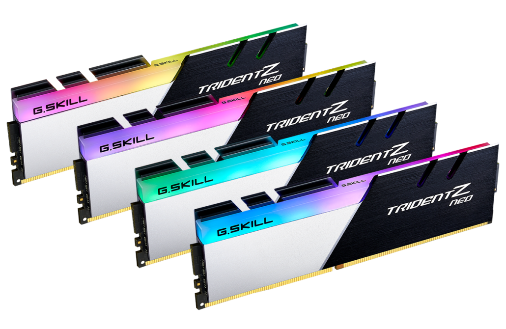 G.SKill Trident Z Neo DDR4 Memory Kits For AMD Ryzen 5000 Desktop CPUs