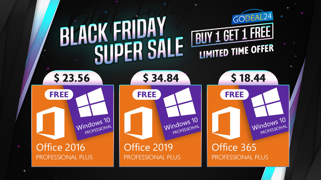 Black Friday Is Coming Buy Microsoft Office And Get Windows 10 Pro Free