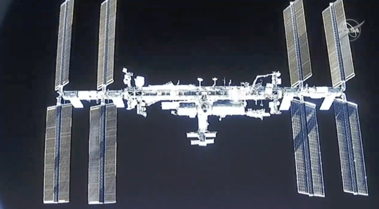 ISS View SpaceX Crew Dragon