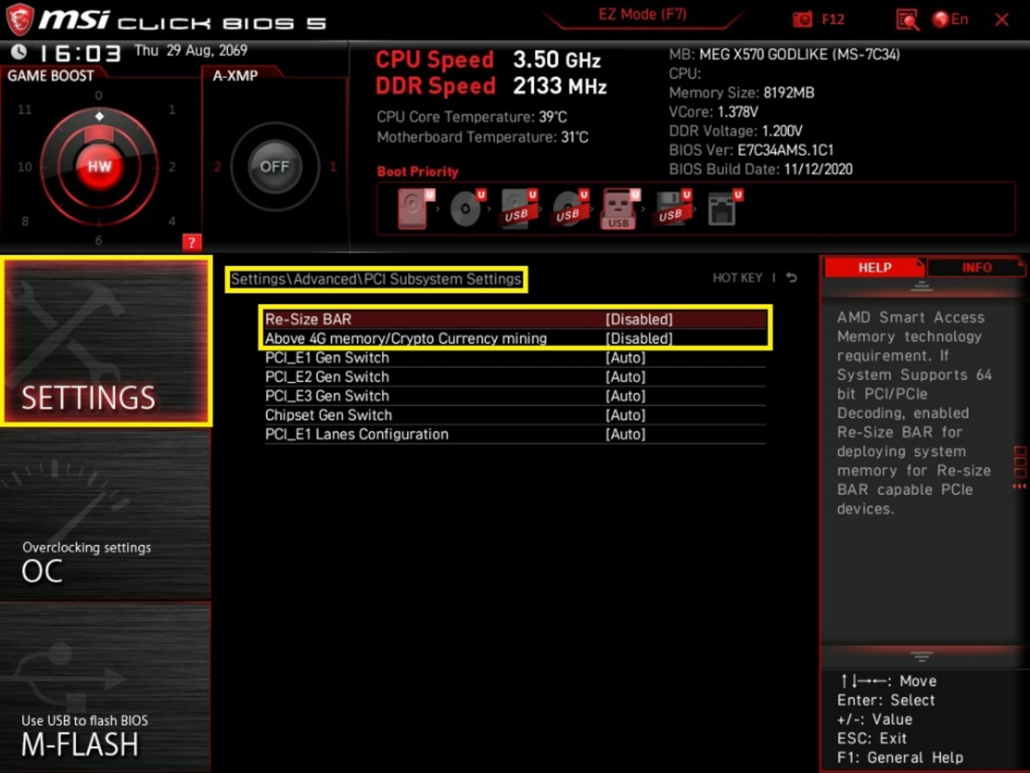 MSI 500 Series Motherboards_X570, B550, A520_ AMD Smart Access Memory Support_2