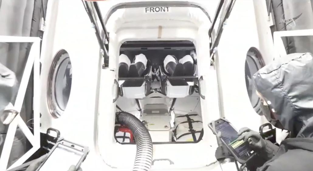 NASA Astronauts Spacex Crew Dragon