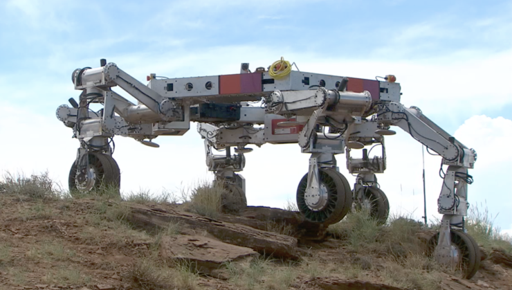 NASA cargo unloader ATHLETE