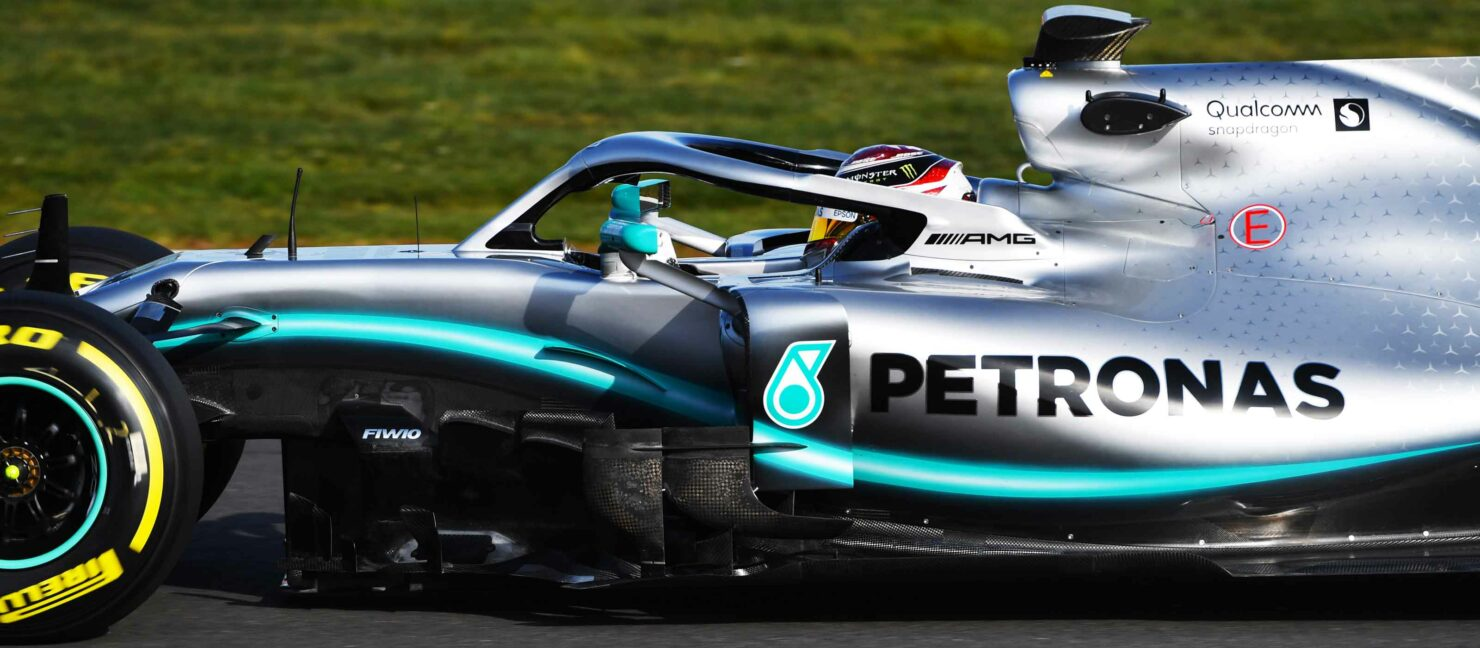 Qualcomm C-V2X Formula One Mercedes Petronas AMG