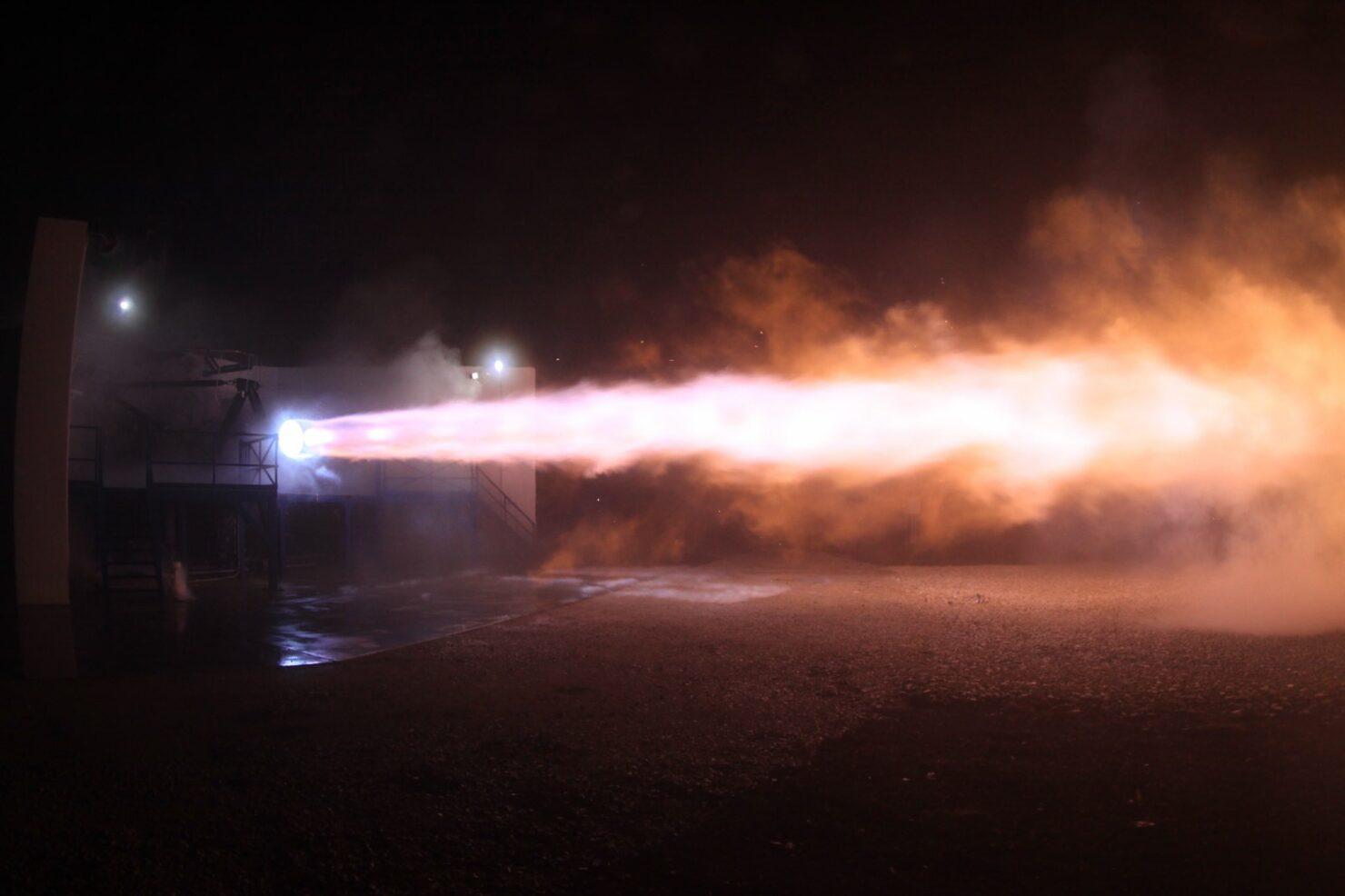 SpaceX Raptor test fire