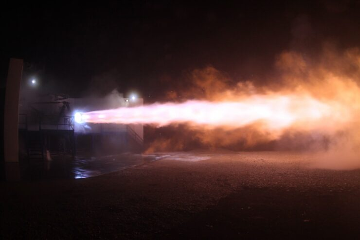 SpaceX Raptor test fire