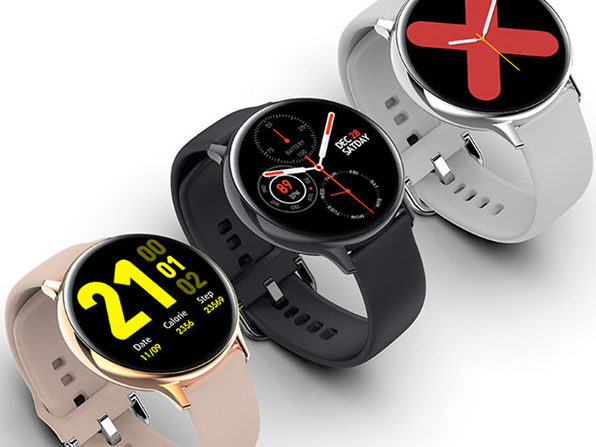 Smart Watch Round Face Health Monitor & Activity Tracker