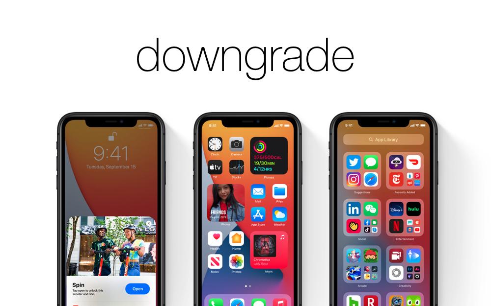 Downgrade iOS 14.2 to iOS 14.1
