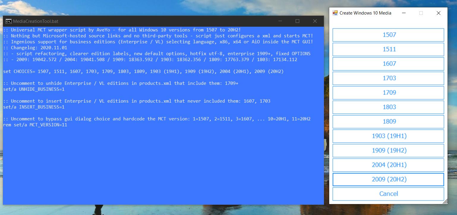 download older windows 10 version