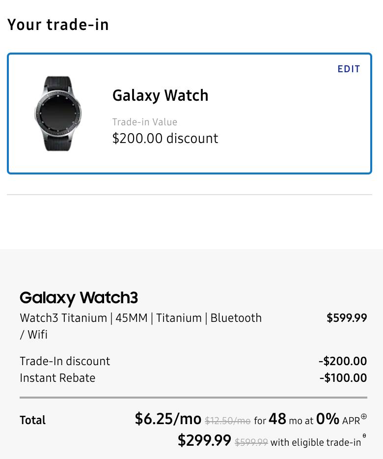 galaxy watch 3 Black Friday