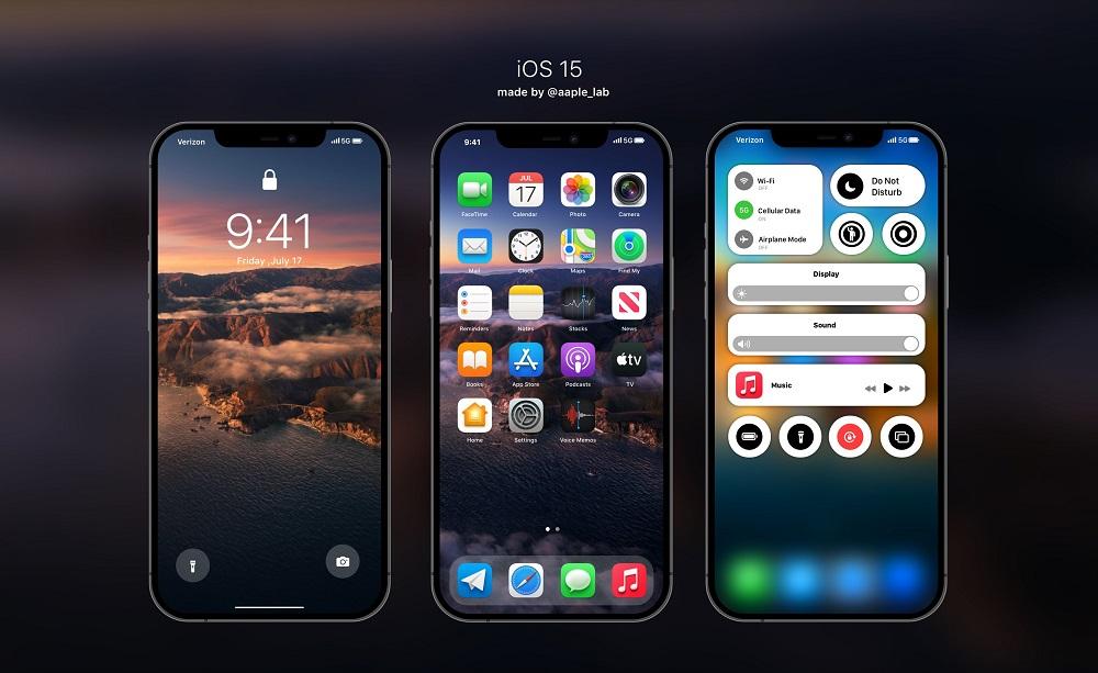 iOS 15 Concept Title