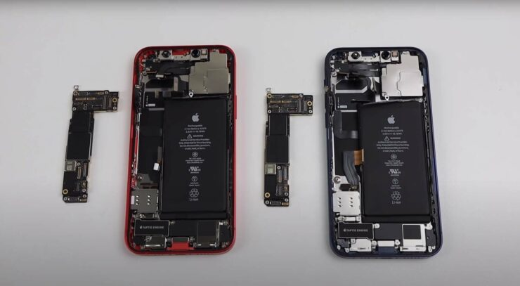 Swapping Original iPhone 12 Logic Boards Disables Face ID, Locks up Camera App and Gives Display, Battery Warning
