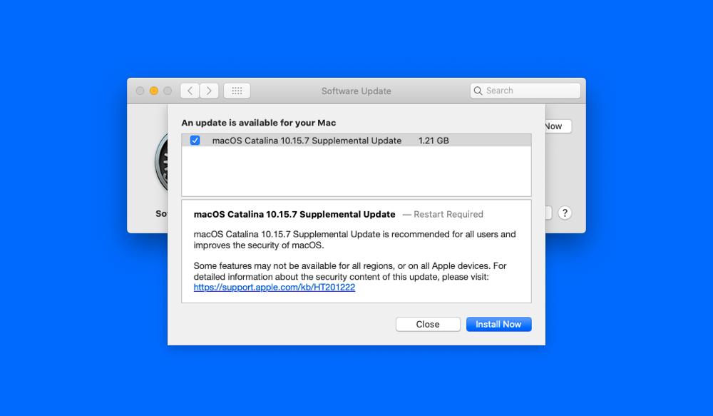 New macOS Catalina supplemental update released