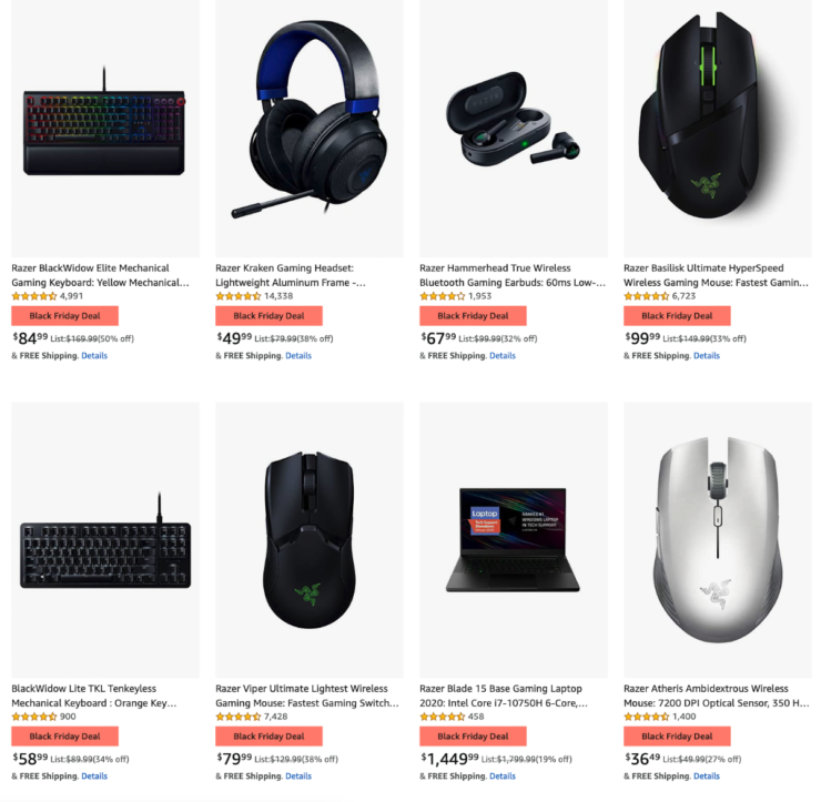 Save 54% on Razer Black Friday 2020 sale