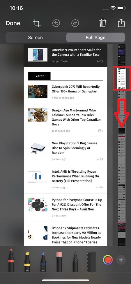 take a screenshot on iPhone 12 Pro