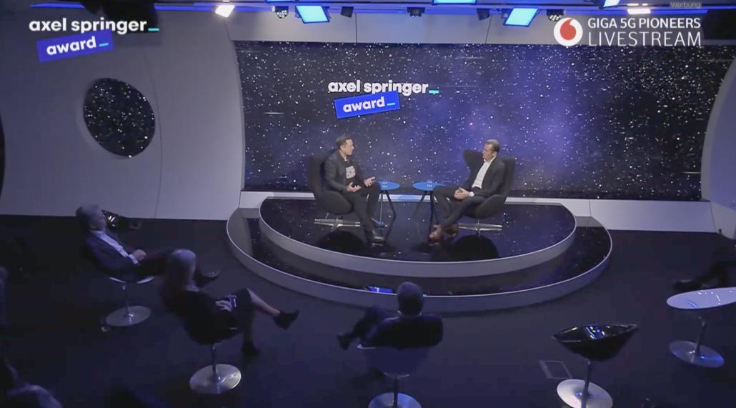 Elon Musk Axel Springer 2020