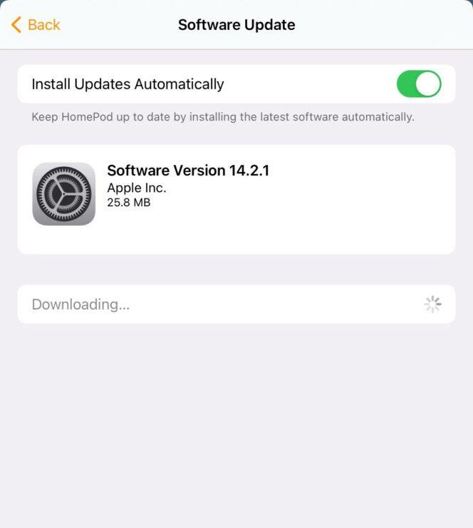 14.2.1 HomePod Software Update