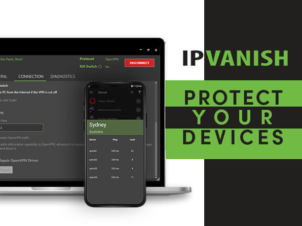 IPVanish VPN 1-Yr Subscription