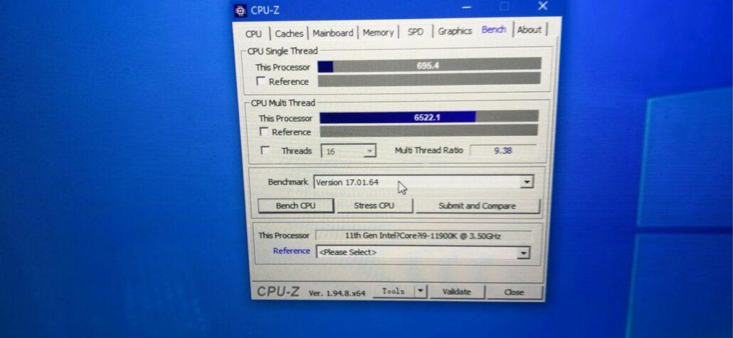Intel Core i9-11900K 8 Core Rocket Lake Desktop CPU Benchmark Leak in CPU-z _1