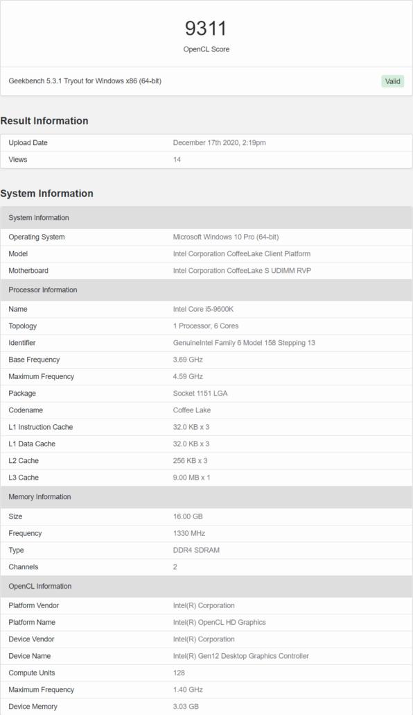 Intel Xe Discrete Graphics Card 3 GB Memory _1