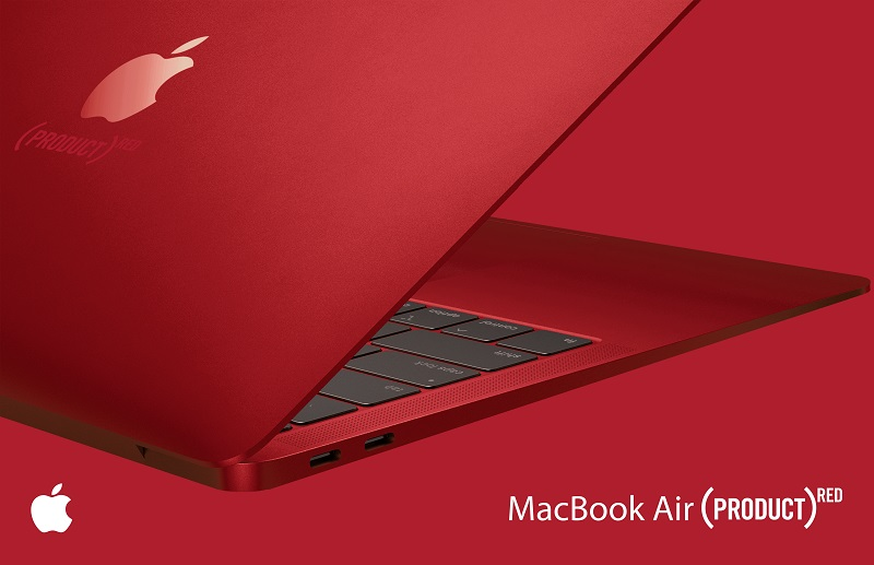Product RED MacBook Air Concept
