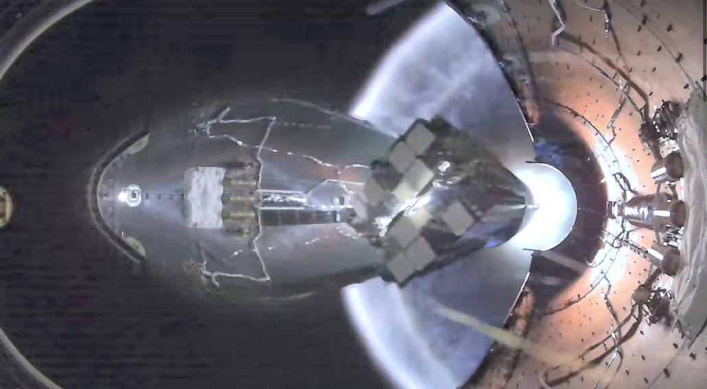 SpaceX Starlink fairing inside