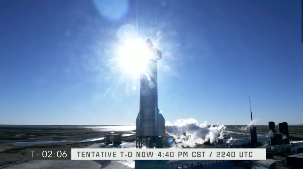 SpaceX Starship SN8 venting