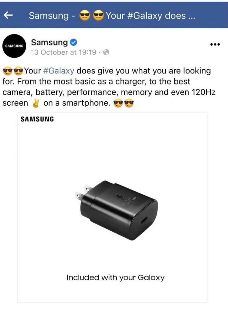 Samsung Deletes Ad Where It Mocked Apple for Selling an iPhone Without a Charger