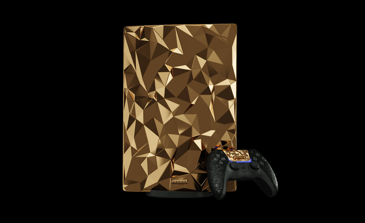 """PS5 """"Golden Rock"""" is an Extremely Rare PS5 Made from 20KG of Gold"""