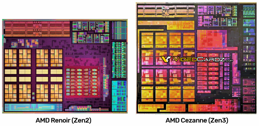 AMD Ryzen 5000 Cezanne Zen 3 CPU APU Die Diagrama esquemático mostrado _1