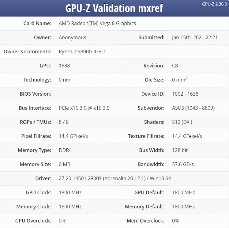 AMD Ryzen 7 5800G Cezanne 8 Zen 3 Core Desktop APU _1
