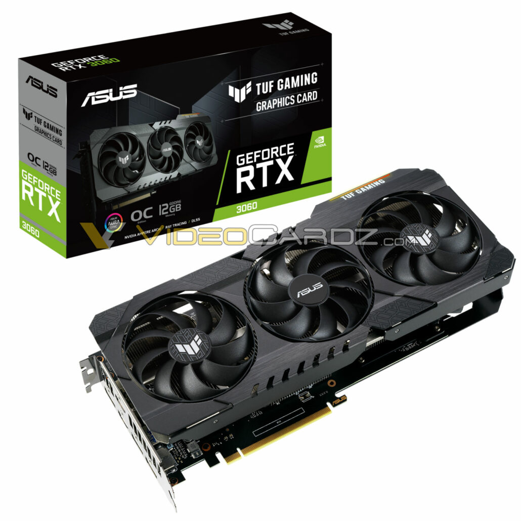 ASUS GeForce RTX 3060 12 GB GDDR6 Graphics Card Pictured, TUF Gaming Design With Triple-Fan Cooling