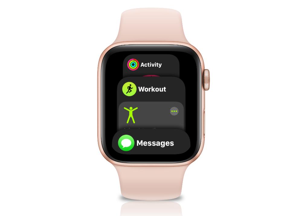 Customize Apple Watch Dock