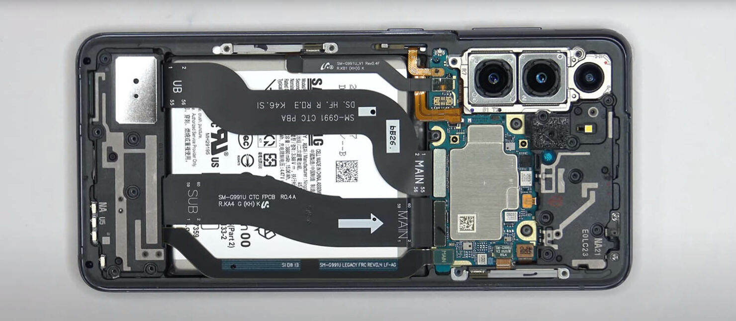 First Galaxy S21 Teardown Shows What the Innards Look Like; Overall Components Arrangement Not Different From Galaxy S20's