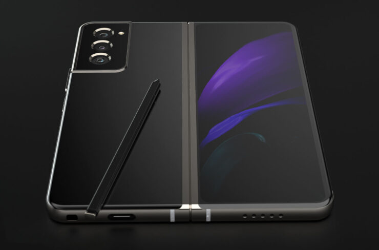 Galaxy Z Fold 3 With S-Pen Support, in-Display Camera and Improved Hinge Envisioned in New Concept