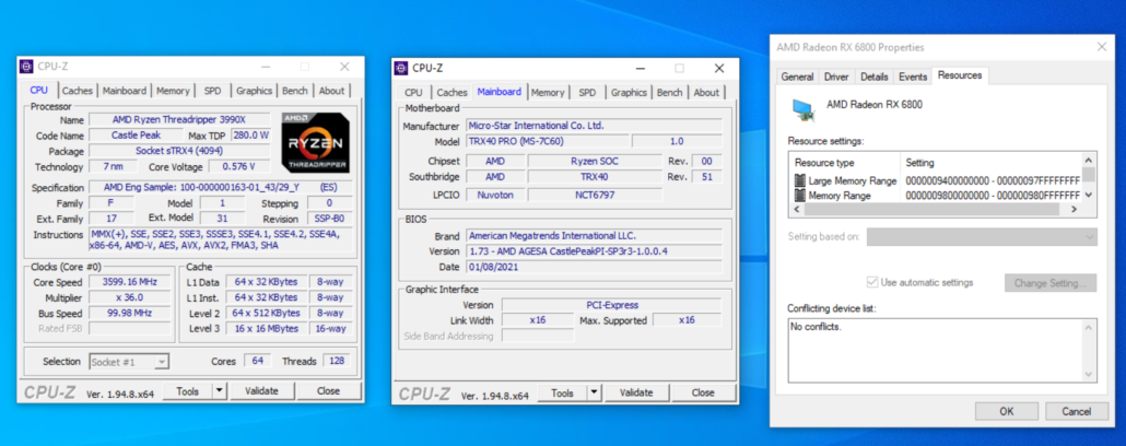 MSI AMD TRX40 HEDT Resizable Bar _ AMD Smart Access Memory Support
