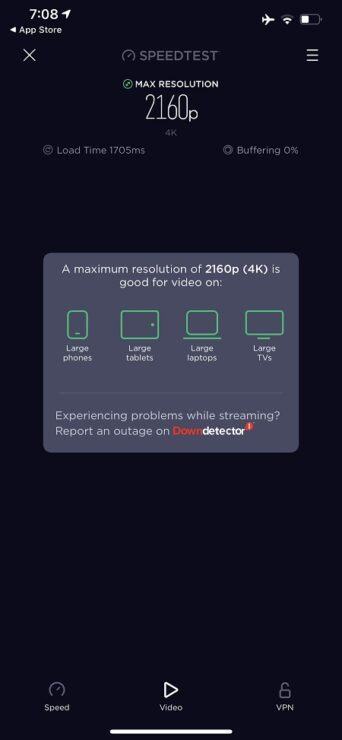 Ookla Speedtest Video Streaming Connection 2