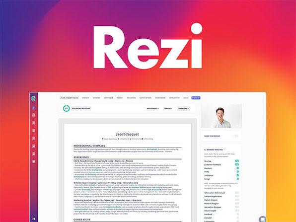 Rezi Résumé Software Pro Lifetime Subscription