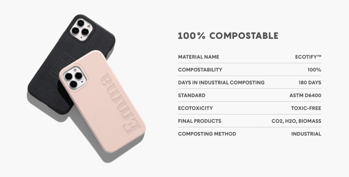 cumpostable iphone case