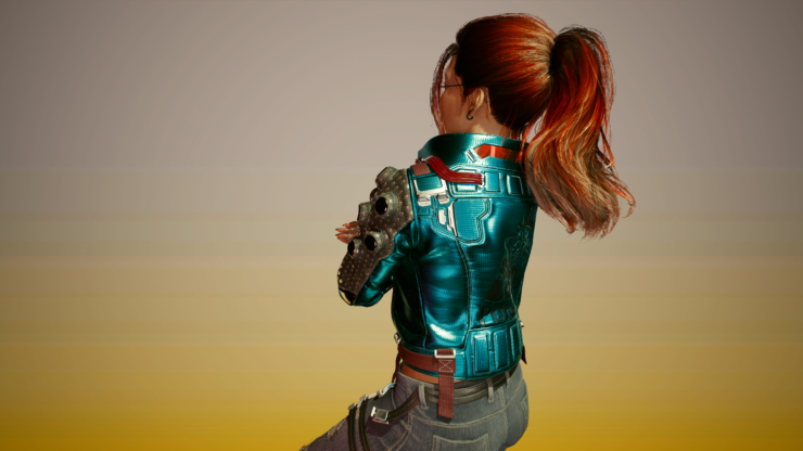 cyberpunk hair mods claire ponytail 3
