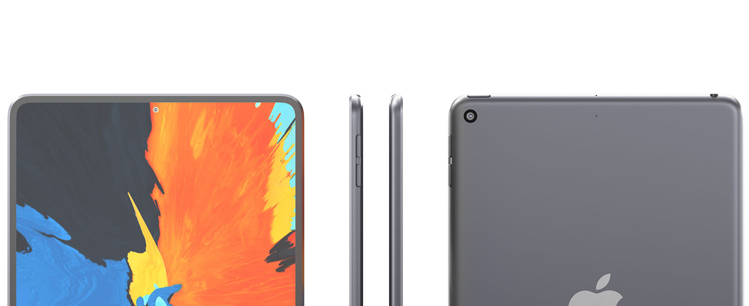 iPad mini 6 With in-Screen Touch ID, iPad Air 4-Like Bezels and New Camera Placement Shown in Latest Render Gallery