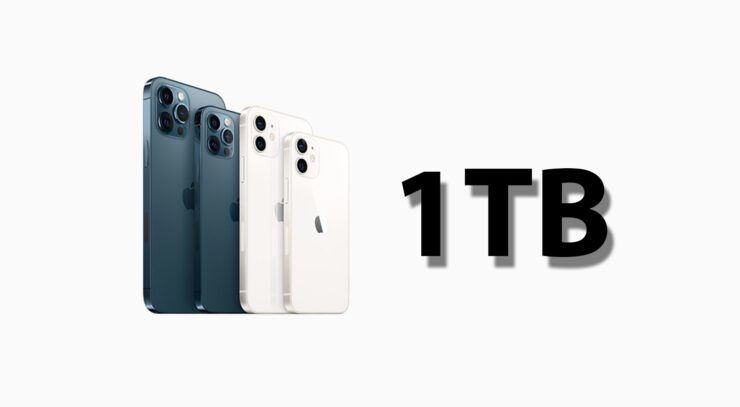 iPhone 13 Pro, iPhone 13 Pro Max Could Be the Only Two Models Sold in a 1TB Storage Variant This Year