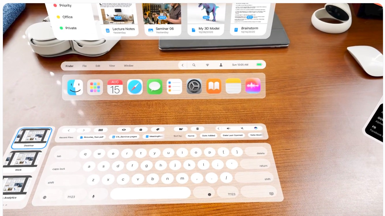 This 'macOS Reality' Concept Uses AR Technology of the Apple Glass to Transform a Normal Desk Into a Productivity Workstation