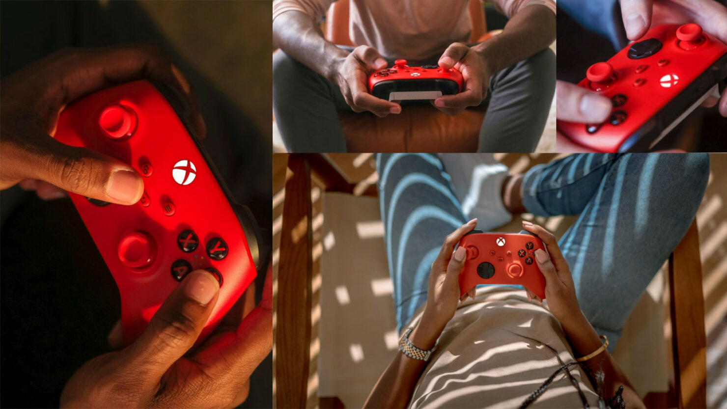 pulse red controller xbox series x s wireless 2