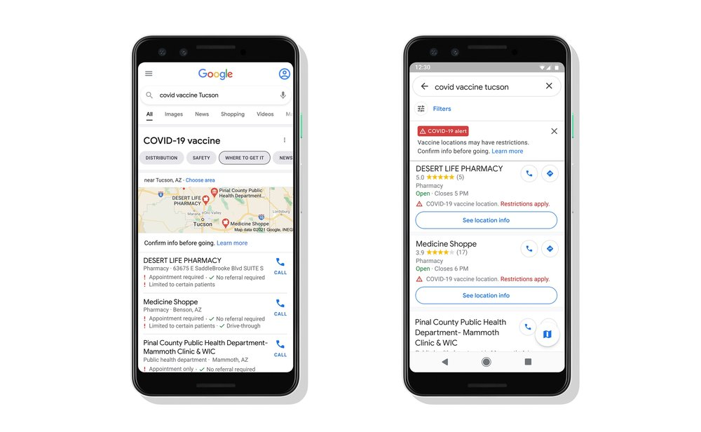 Google Maps Will Soon Start Showing COVID Vaccine Areas