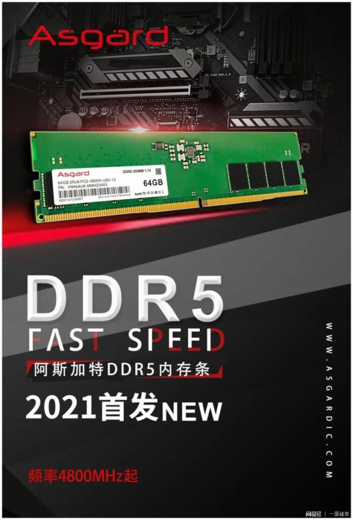 ASGARD DDR5 Memory Package 4800 MHz 128 GB Capability For Intel Alder Lake twelfth Gen Desktop CPUs
