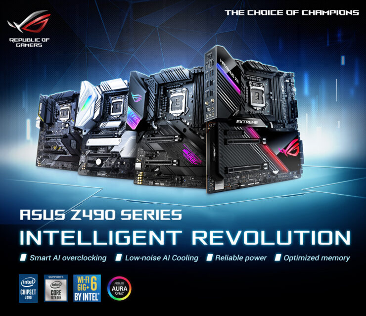 ASUS Z490 Motherboards _ Intel Rocket Lake Desktop CPU PCIe Gen 4.0 Support _1