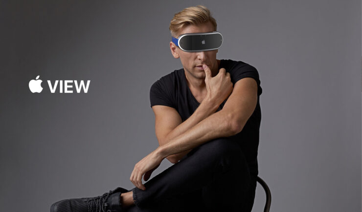 Apple's AR Headset Is a Lightweight Head-Mounted Wearable With Multiple Front-Facing Cameras in This Latest Concept
