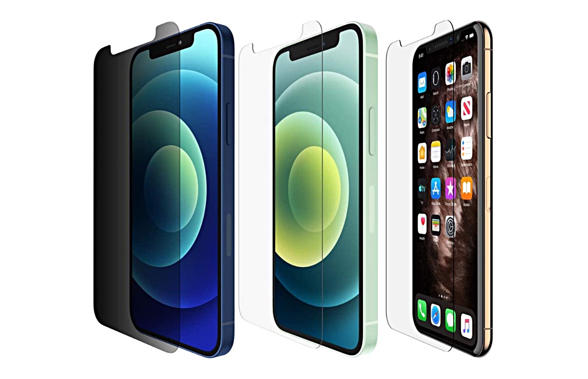 Belkin iPhone 12 and iPhone 12 screen protectors on sale